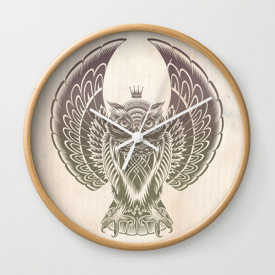 Silent Flight (Owl Wings) Wall Clock