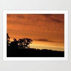 sunset // iowa Art Print