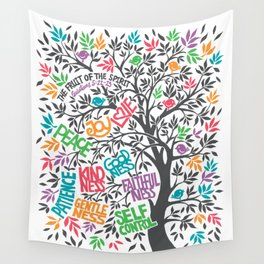 Fruit Of The Spirit (Full Color) Wall Tapestry