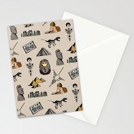 Dark Archeo pattern Stationery Cards