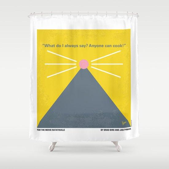 No163 My Ratatouille minimal movie poster Shower Curtain