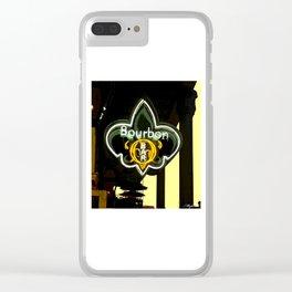New Orleans Bourbon Street Bar Clear iPhone Case