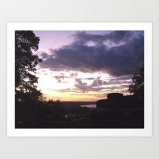 Sunset Over Ohio River Valley Art Print