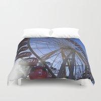 ferris wheel Duvet Covers featuring Ferris Wheel by JMPhotography