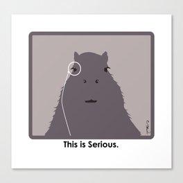Professor Capybara III Canvas Print