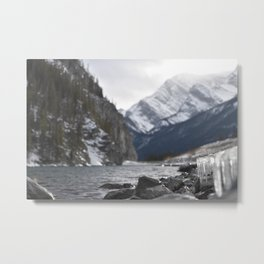 Banff Winter River Metal Print
