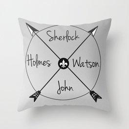 Holmes'Watson Throw Pillow
