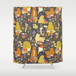 It's Spring time Peekaboo Bear (bears and birds of spring) Shower Curtain