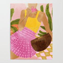 Flower Talk #illustration #painting Poster
