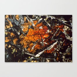 Pyroxene Crystals Canvas Print