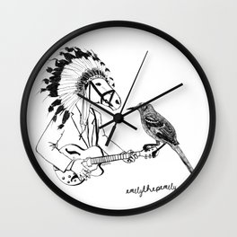 Horse and Bird by Emilythepemily Wall Clock