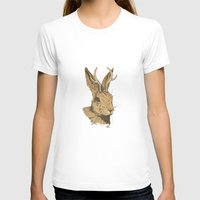 jackalope T-shirts featuring The Jackalope by Black Bear / White Bear