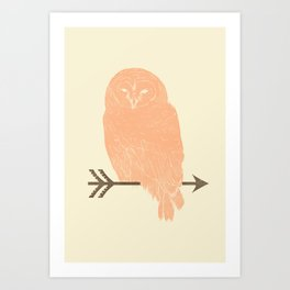 Owl and Arrow Art Print