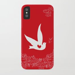 Love and Freedom - Red iPhone Case