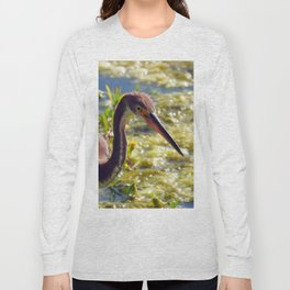 Tri-Color Heron Long Sleeve T-shirt
