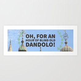 Blind old Dandolo (light) Art Print