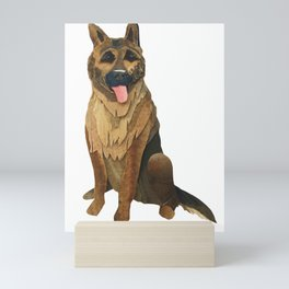 The German Shepard Mini Art Print