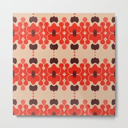 Red pattern rouge 6 Metal Print