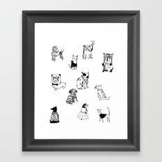 Stylish Pets Framed Art Print