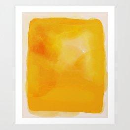 le grand jaune - the big yellow abstract art Art Print