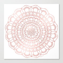 Rose Gold Boho Mandala Canvas Print
