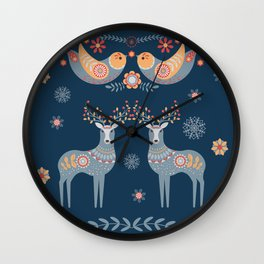 Nordic Winter Blue Wall Clock