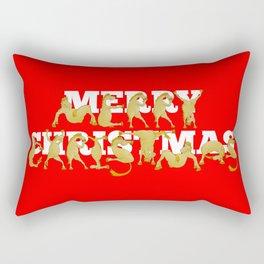 Merry Christmas Ponies Rectangular Pillow
