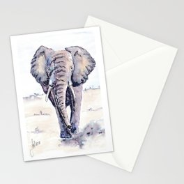 Elephant on a mission Stationery Cards