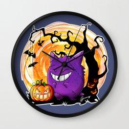 Happy Halloween Gengar Wall Clock
