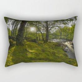 Morning River Sun Rectangular Pillow