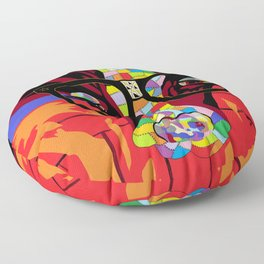Spectacled Cow Floor Pillow