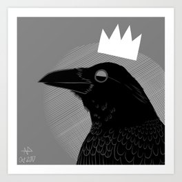 King of Crows Art Print