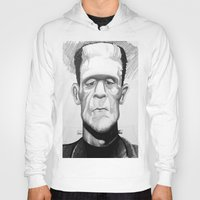 frankenstein Hoodies featuring Frankenstein by Garabatostudios