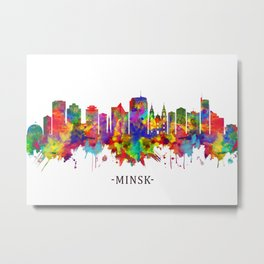 Minsk Belarus Skyline Metal Print