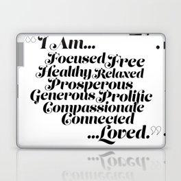 """I Am... Loved."" Affirmation Laptop & iPad Skin"