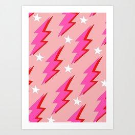 Barbie Lightning Art Print