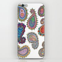 paisley iPhone & iPod Skins featuring Paisley by WelshPixie