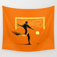 soccer Wall Tapestries featuring Soccer by Enzo Lo Re