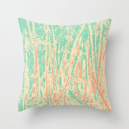 Pastel abstract bamboo Throw Pillow