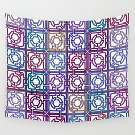 Colorful Maze V Wall Tapestry