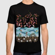 beautiful river MEDIUM Black Mens Fitted Tee