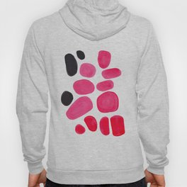 Abstract Minimalist Mid Century Modern Colorful Pop Art Pink Pastel Pebble Bubbles Hoody
