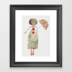 The Princess that wore heels Framed Art Print