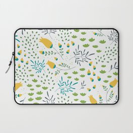 Fresh Flowers Pattern Laptop Sleeve