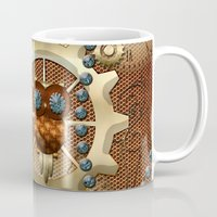 steampunk Mugs featuring Steampunk  by nicky2342
