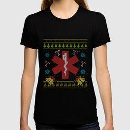 EMS Christmas Ugly Shirt EMT Paramedic Sweater Ugly Design T-shirt