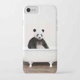 Panda in a Vintage Bathtub (c) iPhone Case