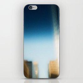 smudged skyline iPhone Skin