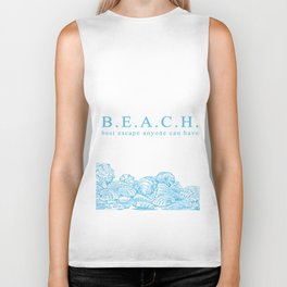 BEACH- Best escape anyone can have - Mix & Match with Simplicity of Life Biker Tank