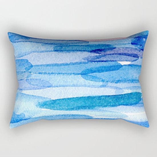 Water shapes Rectangular Pillow